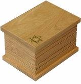 Star of David II Cremation Urn in Oak or Radiata Wood