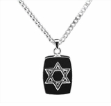 Star of David Sterling Silver Cremation Jewelry Necklace