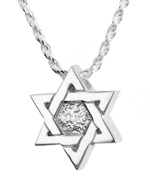 Star Of David Sterling Cremation Jewelry Pendant Necklace For Ashes