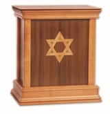 Star of David Walnut Hardwood Handcrafted Cremation Urn by WoodMiller