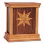 Star Walnut Hardwood Handcrafted Cremation Urn by WoodMiller