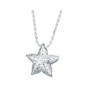 Starfish Sterling Silver Cremation Jewelry Pendant Necklace