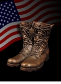 Steadfast Military Boots Cast Bronze Cremation Urn