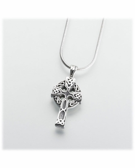 Sterling Silver Celtic Cross Cremation Jewelry Pendant