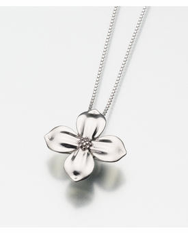Sterling Silver Dogwood Blossom Cremation Jewelry