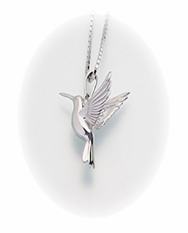 Sterling Silver Hummingbird Cremation Jewelry Pendant
