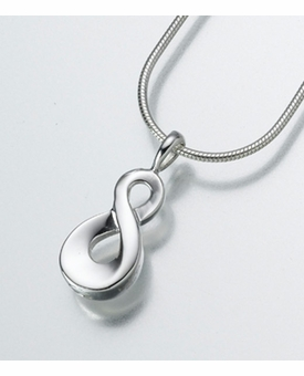 Infinity Container For Ashes Sterling Silver Cremation Jewelry Ashes Necklace