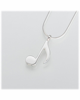 Sterling Silver Music Note Cremation Jewelry Pendant