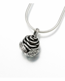 Sterling Silver Rose Cremation Jewelry