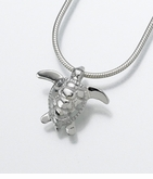 Sterling Silver Sea Turtle Cremation Jewelry