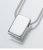 Sterling Silver Sliding Rectangle Cremation Jewelry