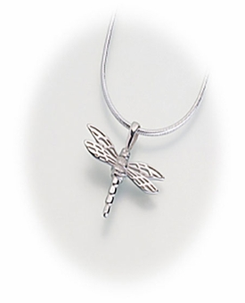 Sterling Silver Small Dragonfly Cremation Jewelry Pendant