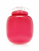 Strawberry Pink Flores Collection Hand Blown Glass Cremation Urn