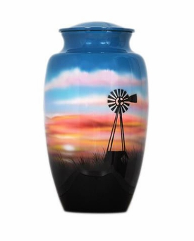 Sunset in the Heartland Hand Painted Cremation Urn