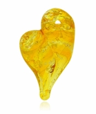 Sunshine Heart Cremains Encased in Glass Cremation Jewelry Pendant