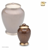 Tall Simplicity Bronze Finish Keepsake Cremation Urn