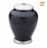 Tall Simplicity Midnight Pearl Cremation Urn