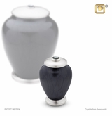 Tall Simplicity Midnight Pearl Keepsake Cremation Urn