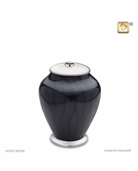 Tall Simplicity Midnight Pearl Medium Cremation Urn