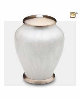 Tall Simplicity Pearl Cremation Urn