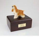 Tan Cocker Spaniel Dog Figurine Pet Cremation Urn - 063