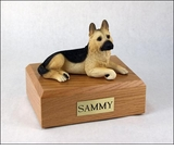 Tan German Shepherd Dog Figurine Pet Cremation Urn - 1455