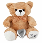 Tan Huggable Heart Teddy Bear Cremation Urn