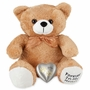 Tan Paw Print Heart Teddy Bear Pet Cremation Urn