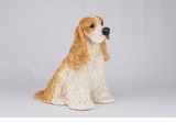 Tan White Cocker Spaniel Hollow Figurine Pet Cremation Urns - 2731