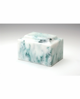 Teal Classic Cultured Marble Cremation Urn Vault - Engravable