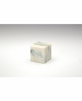 Teal Small Cube Cremation Urn - Engravable