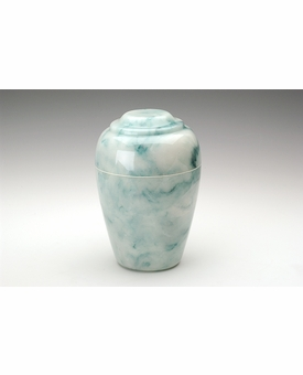 Teal Small Grecian Cremation Urn - Engravable