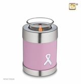 Tealight Candle Awareness Pink Ribbon Keepsake Cremation Urn