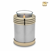 Tealight Candle Elegant Pewter Keepsake Cremation Urn