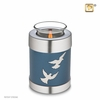 Tealight Candle Flying Doves Keepsake Cremation Urn