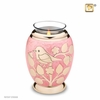 Tealight Candle Gold Blessing Birds Keepsake Cremation Urn