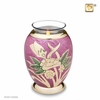Tealight Candle Lilac Rose Keepsake Cremation Urn