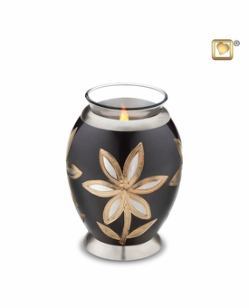 Tealight Candle Lilies Keepsake Cremation Urn