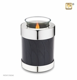 Tealight Candle Midnight Pearl Silver Keepsake Cremation Urn