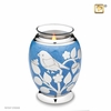 Tealight Candle Silver Blessing Birds Keepsake Cremation Urn