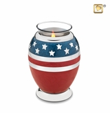Tealight Candle Stars and Stripes Keepsake Cremation Urn