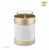 Tealight Candle Tall Simplicity Pearl Keepsake Cremation Urn