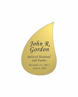 Tear Drop Nameplate - Engraved - Gold - 1-7/8  x  2-7/8