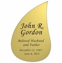 Tear Drop Nameplate - Engraved - Gold - 3-1/2  x  5-1/4
