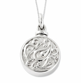 Tear in Circle Sterling Silver Cremation Jewelry Necklace