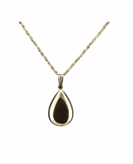 Teardrop 14kt Gold Cremation Jewelry Necklace