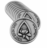 Teardrop Memorial Pewter Token - 10 pack