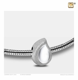 TearDrop Rhodium Plated Sterling Silver Cremation Jewelry Bead