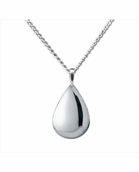 Teardrop Sterling Silver Cremation Jewelry Necklace