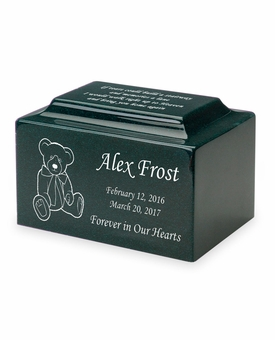 Teddy Bear Small Classic Infant or Child Cremation Urn - Engravable